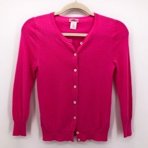 J.CREW Neon Pink Featherweight Cashmere Sweater